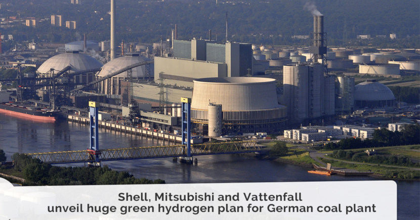 Shell, Mitsubishi and Vattenfall unveil huge green hydrogen plan for German coal plant