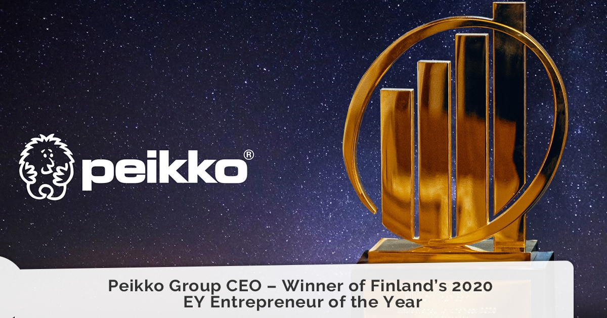 Peikko Group CEO – Winner of Finland's 2020 EY Entrepreneur of the Year