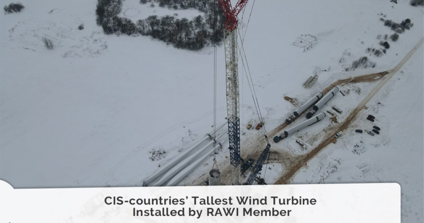 CIS-countries' Tallest Wind Turbine Installed by RAWI Member